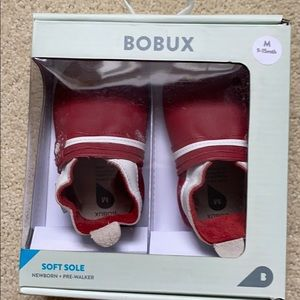 Red soft sole bobux shoes